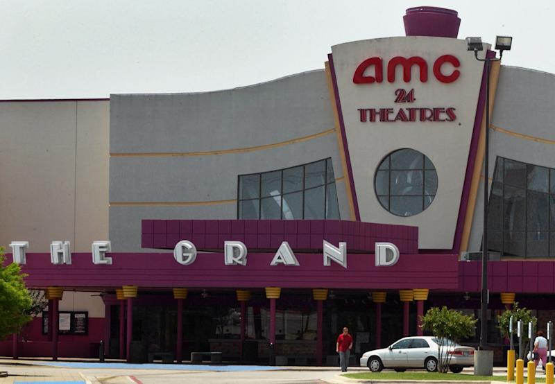 FILE - A May 11, 2005, file photo shows the exterior of the AMC Grand 24 movie theatre in Dallas, Texas. A Chinese conglomerate has announced Monday May 21, 2012 it will buy U.S. cinema chain AMC Entertainment Holdings for $2.6 billion to create the world's biggest movie theater operator. (AP Photo/Ron Heflin/file)