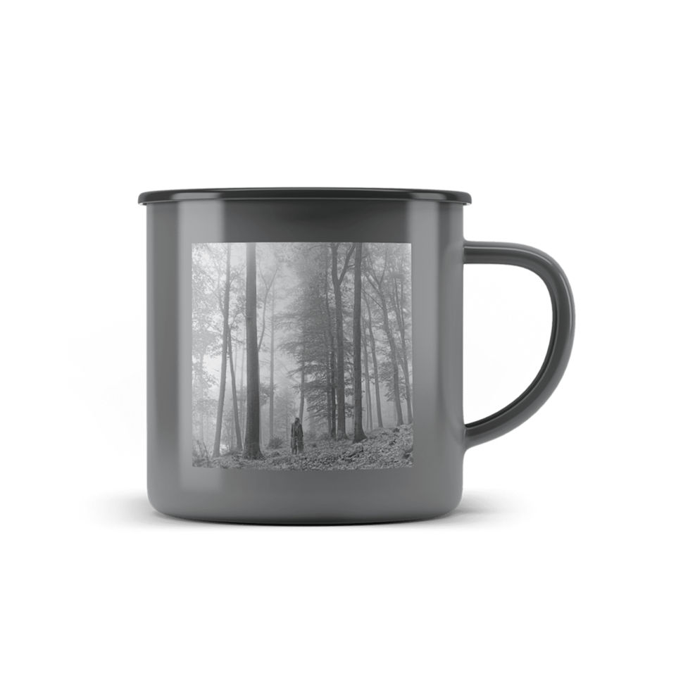 "<p>They'll drink every cup of coffee out of <span>The ""In the Trees"" Metal Mug</span> ($20).</p>"
