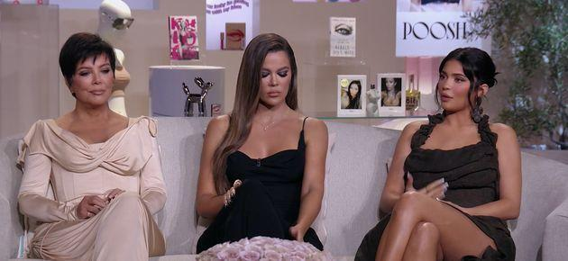 Kris Jenner, Khloe Kardashian and Kylie Jenner pictured during part 1 of the family's
