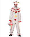 "<p><strong>Spirit Halloween</strong></p><p>spirithalloween.com</p><p><strong>$59.99</strong></p><p><a href=""https://go.redirectingat.com?id=74968X1596630&url=https%3A%2F%2Fwww.spirithalloween.com%2Fproduct%2Fhalloween-costumes%2Fmens-costumes%2Fmens-scary-clown-costumes%2Fadult-twisty-the-clown-costume-american-horror-story%2Fpc%2F4742%2Fc%2F683%2Fsc%2F1297%2F104166.uts&sref=https%3A%2F%2Fwww.goodhousekeeping.com%2Fholidays%2Fhalloween-ideas%2Fg4564%2Fscary-halloween-costumes%2F"" rel=""nofollow noopener"" target=""_blank"" data-ylk=""slk:Shop Now"" class=""link rapid-noclick-resp"">Shop Now</a></p><p>You don't need fancy makeup skills to portray the famously creepy <em>American Horror Story</em> character. This costume set comes with a half mask along with the clown outfit. Just note that the <a href=""https://go.redirectingat.com?id=74968X1596630&url=https%3A%2F%2Fwww.spirithalloween.com%2Fproduct%2Fblack-clown-shoes%2F53391.uts&sref=https%3A%2F%2Fwww.goodhousekeeping.com%2Fholidays%2Fhalloween-ideas%2Fg4564%2Fscary-halloween-costumes%2F"" rel=""nofollow noopener"" target=""_blank"" data-ylk=""slk:clown shoes"" class=""link rapid-noclick-resp"">clown shoes</a> are sold separately. </p>"