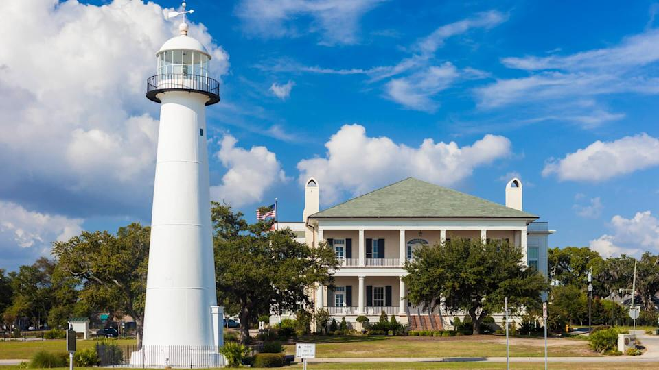 Lighthouse and Visitor Center in Biloxi, Mississippi.