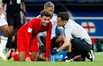 <p>Dele Alli receives attention to his troublesome thigh </p>