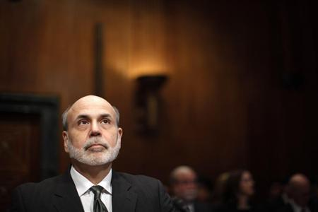 U.S. Federal Reserve Chairman Ben Bernanke is pictured at a Senate Budget Committee hearing on the outlook for U.S. Monetary and Fiscal Policy on Capitol Hill
