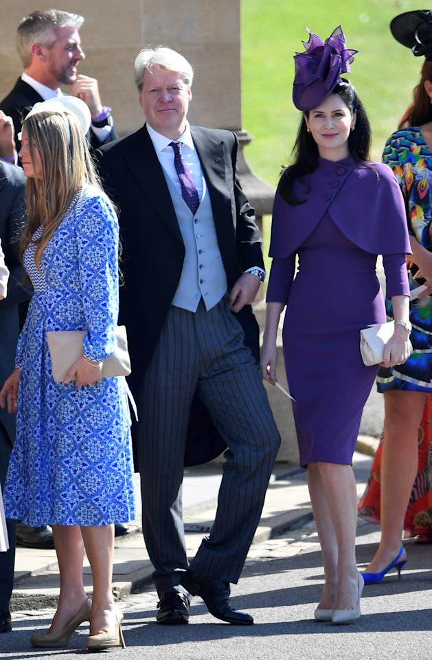 REFILE - REMOVING EXTRA WORD Charles Spencer, 9th Earl Spencer and his wife, Countess Spencer arrive with guests to the wedding of Prince Harry and Meghan Markle in Windsor, Britain, May 19, 2018. REUTERS/Toby Melville/Pool