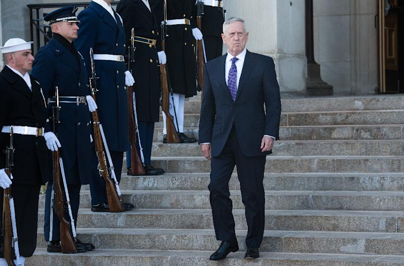 US Defense Secretary James Mattis will stop in Saudi Arabia, Egypt, Israel, Qatar and Djibouti on his fourth overseas trip (AFP Photo/NICHOLAS KAMM)