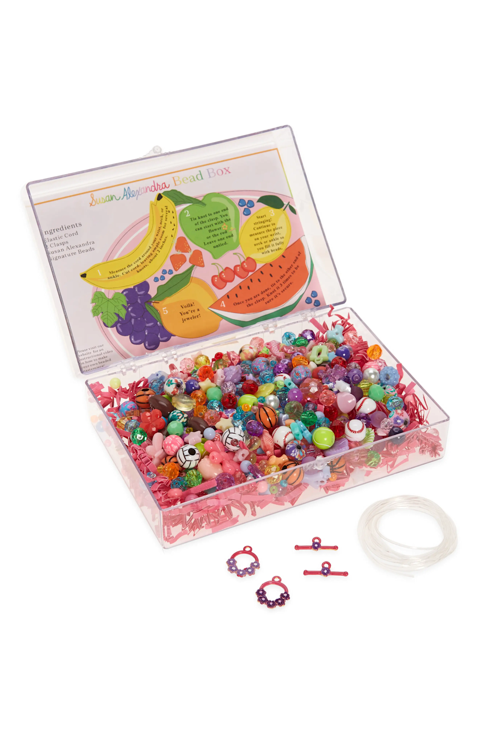"<br><br><strong>Susan Alexandra</strong> DIY Bead Box, $, available at <a href=""https://go.skimresources.com/?id=30283X879131&url=https%3A%2F%2Fwww.nordstrom.com%2Fs%2Fsusan-alexandra-diy-bead-box%2F5768790"" rel=""nofollow noopener"" target=""_blank"" data-ylk=""slk:Nordstrom"" class=""link rapid-noclick-resp"">Nordstrom</a>"