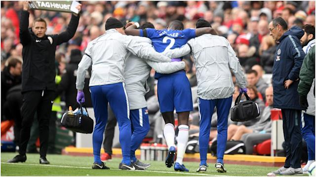 Antonio Rudiger hobbled out of Chelsea's defeat to Liverpool, leaving Maurizio Sarri anxious for positive news on his defender.
