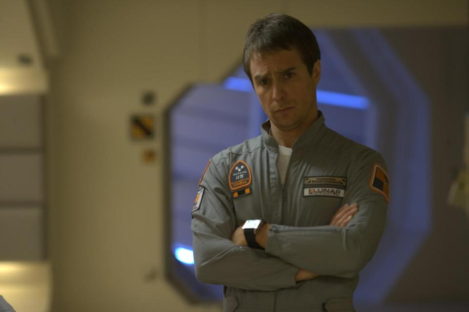 Sam Rockwell cuts an isolated figure in 'Moon'. (Sony Pictures Classics)