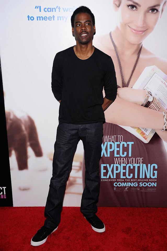 "Chris Rock attends the New York City premiere of ""What to Expect When You're Expecting"" on May 8, 2012"