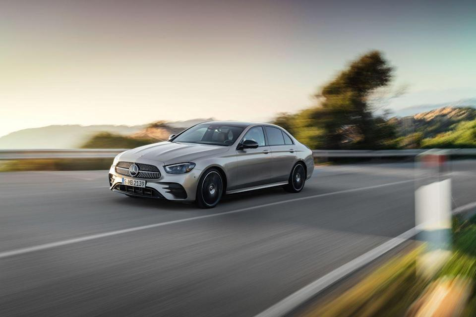 "<p>The <a href=""https://www.caranddriver.com/mercedes-benz/e-class"" rel=""nofollow noopener"" target=""_blank"" data-ylk=""slk:2021 Mercedes-Benz E-class"" class=""link rapid-noclick-resp"">2021 Mercedes-Benz E-class</a> epitomizes sophistication with its bleeding technology, classy appearance, and extravagant cabin. Available as a four-door sedan or two-door coupe and cabriolet, the Mercedes can be made to match all manner of upper-class lifestyles. It also offers a set of distinct powertrains that range from an entry-level four-cylinder to a plug-in hybrid to a zesty turbocharged six-cylinder that makes 362 horsepower. The 2021 E-class family chauffeurs passengers in quiet comfort thanks to a serene interior and a pillowy ride. The experience is not unlike a smaller and more affordable version of the <a href=""https://www.caranddriver.com/mercedes-benz/s-class"" rel=""nofollow noopener"" target=""_blank"" data-ylk=""slk:ultra-luxurious S-class"" class=""link rapid-noclick-resp"">ultra-luxurious S-class</a>.</p><p><a class=""link rapid-noclick-resp"" href=""https://www.caranddriver.com/mercedes-benz/e-class"" rel=""nofollow noopener"" target=""_blank"" data-ylk=""slk:Review, Pricing, and Specs"">Review, Pricing, and Specs</a></p>"
