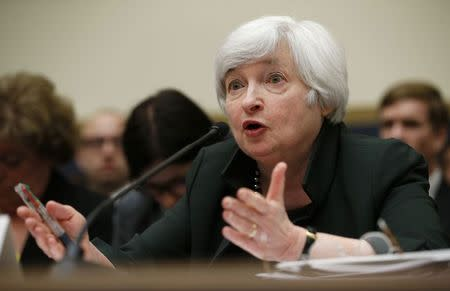U.S. Federal Reserve Chair Janet Yellen testifies before the House of Representatives Financial Services Committee on Capitol Hill in Washington