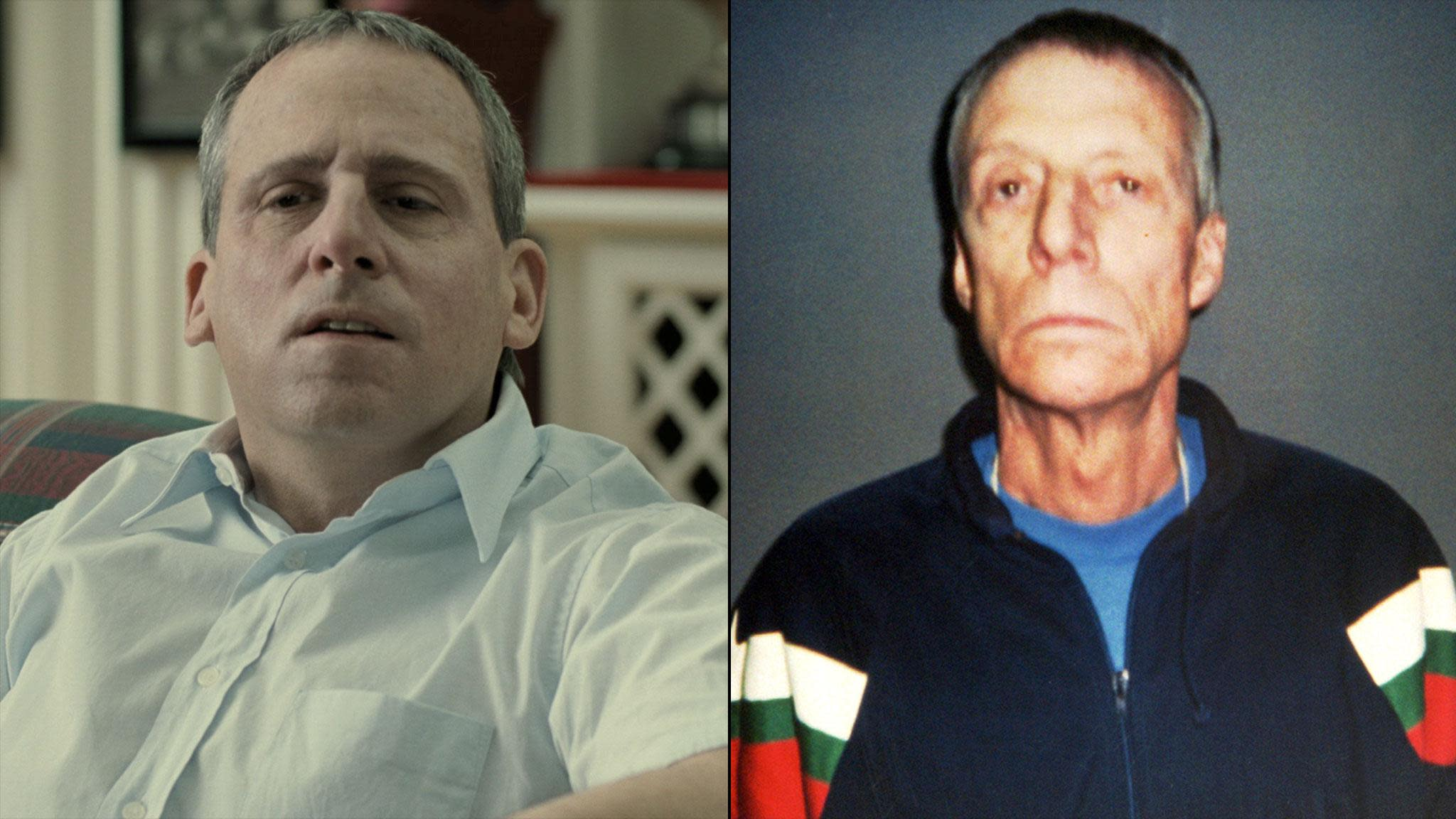 Steve Carell in 'Foxcatcher' and the real John E. du Pont (Sony Pictures Classics/AP)