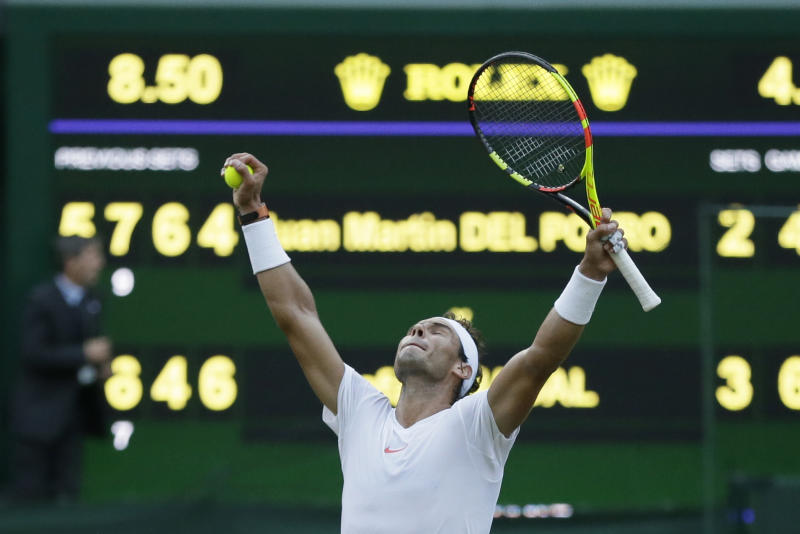 Juan Martin del Potro sets up Rafael Nadal clash at Wimbledon
