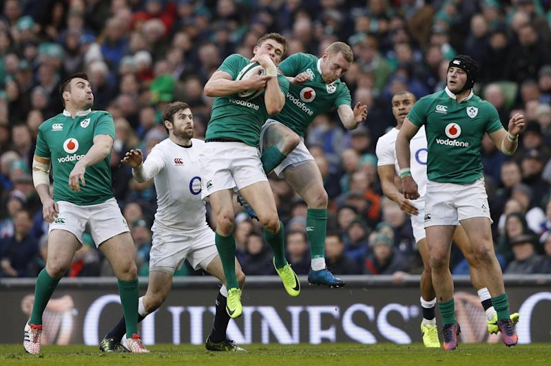 Ireland ended England's Grand Slam hopes - but how many of their players made the team of the weekend?: AFP/Getty Images