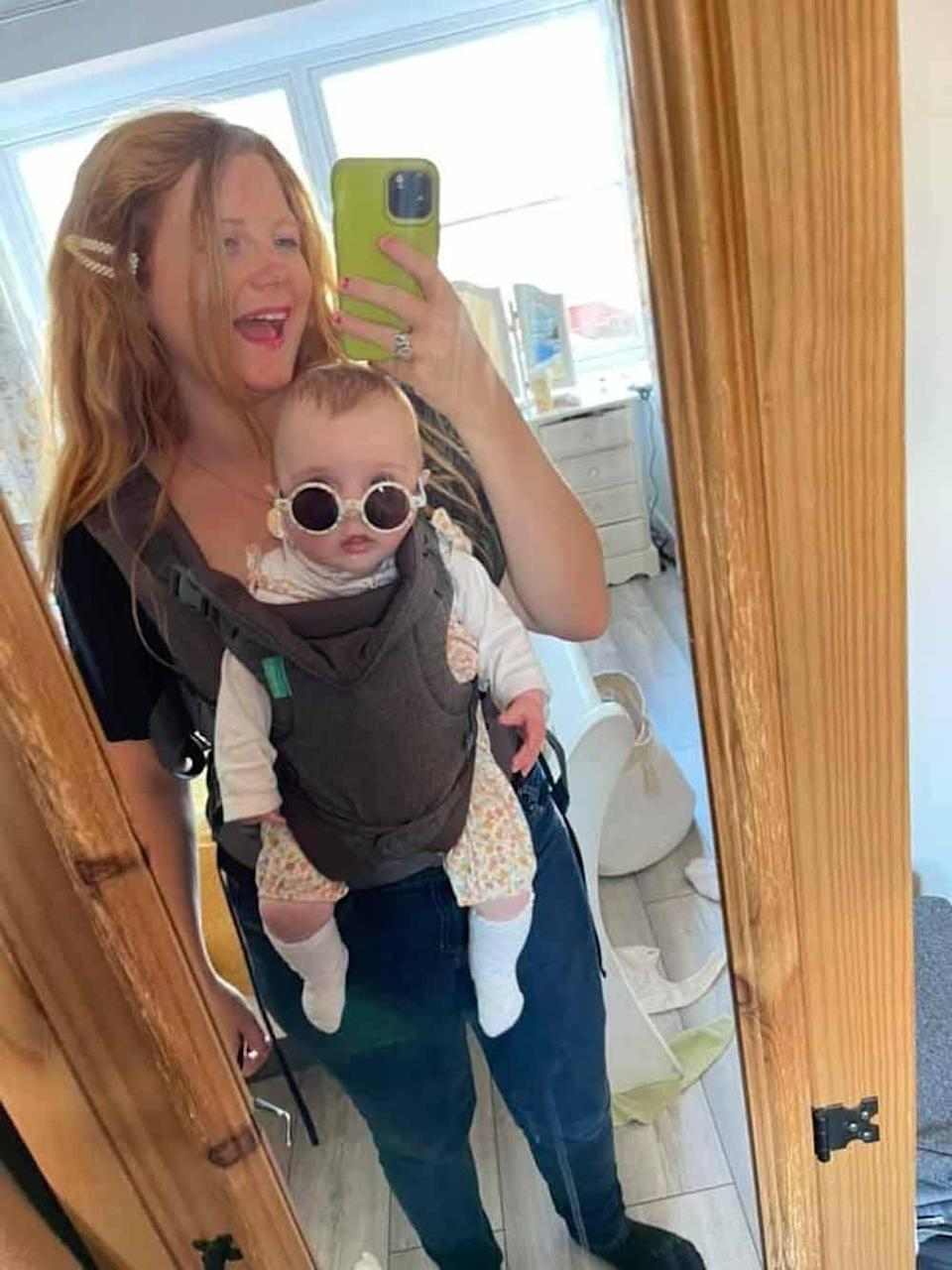 Kayley is now looking forward to using the glasses in the future to watch Ivy's milestone events (Collect/PA Real Life).