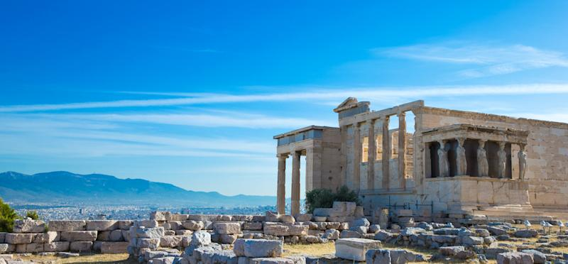 Parthenon on the Acropolis in Athens, Greece. Getty Images