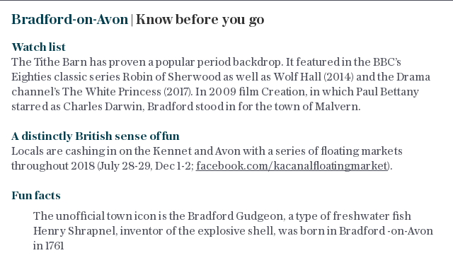 Bradford-on-Avon | Know before you go
