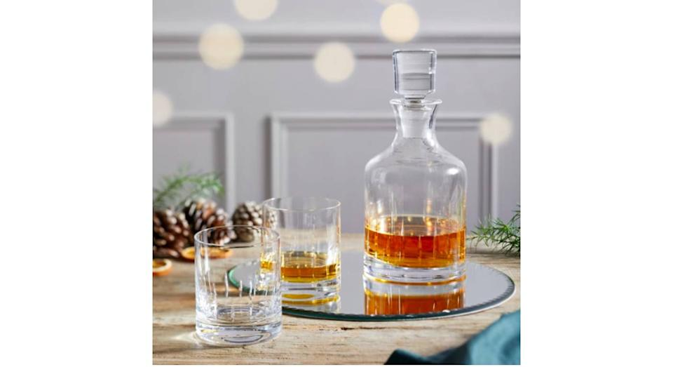 Whiskey Glasses & Decanter Set (The White Company)