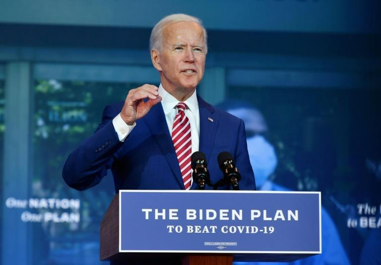 Democratic presidential nominee Joe Biden said if elected president he would seek free Covid-19 vaccines for all Americans, mandatory mask wearing, boosted testing in schools and elsewhere and congressional action on combatting the pandemic