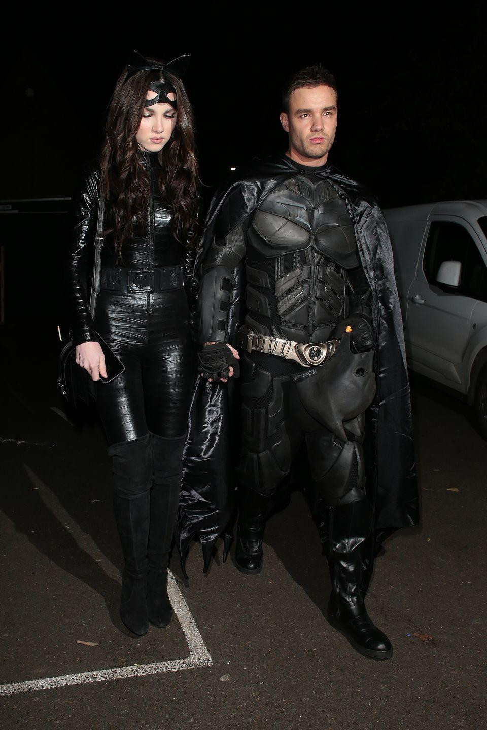 <p>Singer Liam Payne and his model fiancee Maya Henry put on head-to-toe spandex to be Batman and Cat Woman for a 2019 Halloween party.</p>