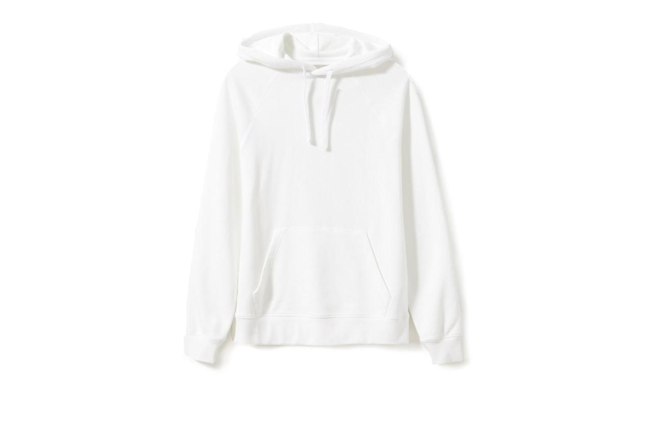 """$55, Everlane. <a href=""""https://www.everlane.com/products/mens-ltwt-french-terry-hoodie-white?collection=mens-sale"""">Get it now!</a>"""