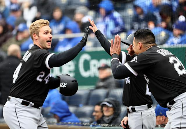 Matt Davidson had a huge game on opening day for the White Sox. (Getty Images)