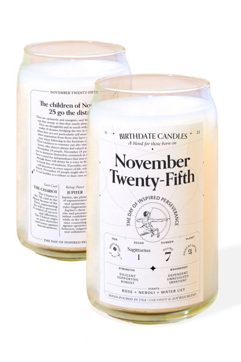 """<p><strong>Birthdate Co.</strong></p><p>birthdate.co</p><p><strong>$38.00</strong></p><p><a href=""""https://birthdate.co/pages/the-birthdate-candle"""" rel=""""nofollow noopener"""" target=""""_blank"""" data-ylk=""""slk:Shop Now"""" class=""""link rapid-noclick-resp"""">Shop Now</a></p><p>""""This is the perfect gift for anybody obsessed with astrology (including yourself). Each candle has a custom scent that's devised through a combination of numerology, astrology, and tarot. It's all spelled out on the label (I'm born on August 20th and it says I'm mysterious... can anybody confirm?) and I love the way mine smells. If you know the time you were born, they also make a <a href=""""https://birthdate.co/products/the-birthdate-book"""" rel=""""nofollow noopener"""" target=""""_blank"""" data-ylk=""""slk:gorgeous, super-detailed birth chart book"""" class=""""link rapid-noclick-resp"""">gorgeous, super-detailed birth chart book</a>.""""—<em>Margaux Anbouba, associate editor</em></p>"""