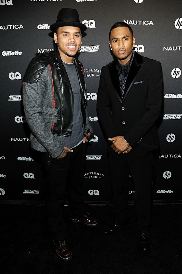 "R&B crooners Chris Brown and Trey Songz caught up at the soiree. ""Forever"" singer Brown told <a href=""http://omg.yahoo.com/news/chris-brown-i-m-a-great-guy-now-promoting-positivity/49746"" target=""new"">Access Hollywood</a> that a year and a half after assaulting ex-girlfriend Rihanna, ""Everything [is] good, I'm definitely -- me personally and mentally -- I'm a great guy now."" Larry Busacca/<a href=""http://www.gettyimages.com/"" target=""new"">GettyImages.com</a> - October 27, 2010"
