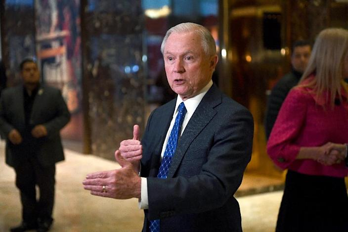 Ten days before Trump takes the oath of office, lawmakers will hold hearings for Alabama Senator Jeff Sessions (pictured), Trump's nominee for US attorney general (AFP Photo/Jewel SAMAD)