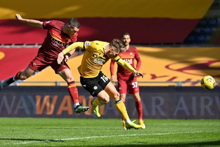 Jordan Veretout powered Roma into the lead with a fifth-minute header against Udinese