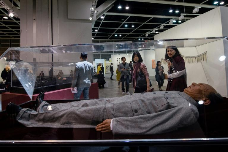 The replicas of ex-communist leaders on display at Hong Kong's Art Basel were created in Beijing