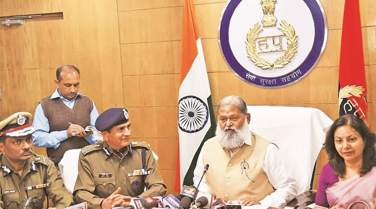 Anil Vij, haryana home minister, haryana intelligence wing, manohar lal khattar, indian express,