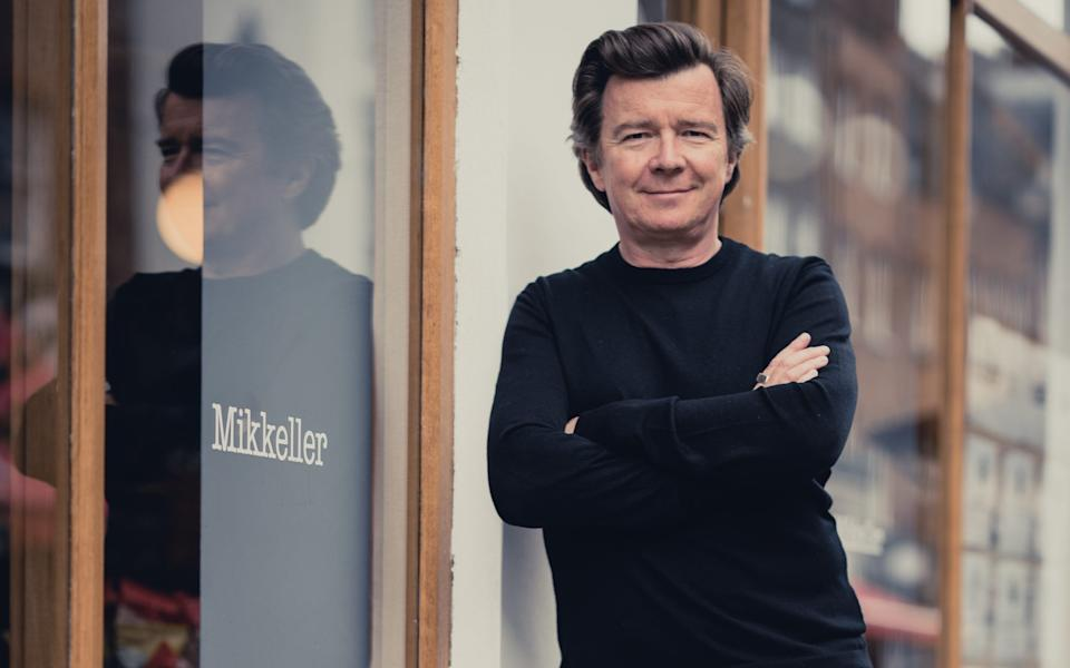 Rick Astley outside the London brewpub in which hes an investor