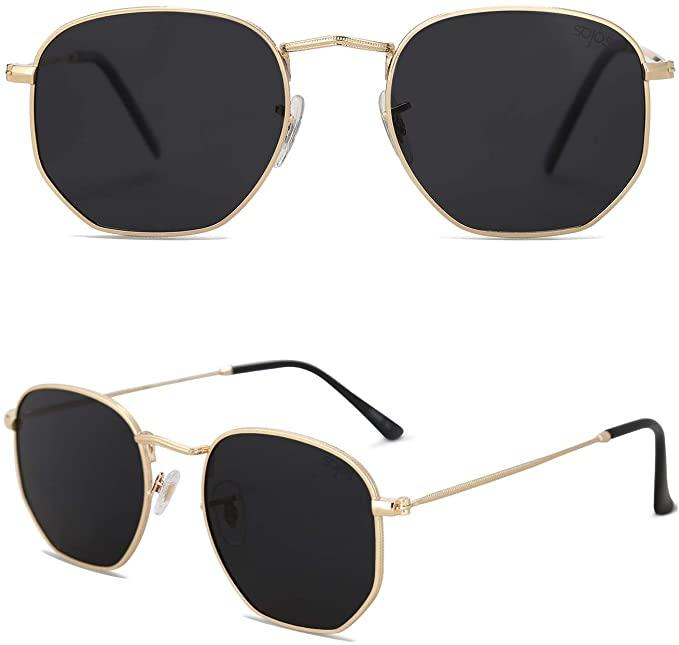 "<h3>SOJOS Square Polarized Sunglasses<br></h3><br>While these hip sunnies bear a striking resemblance to the pair made by a heritage eyewear brand whose name rhymes with ""Bay-Ran"", they're actually from SOJOS — a crowd-pleasing cheap 'n' cheerful eyewear destination on the 'zon. (Did you read our <a href=""https://www.refinery29.com/en-us/amazon-blue-light-blocking-glasses"" rel=""nofollow noopener"" target=""_blank"" data-ylk=""slk:ode to their blue-light blocking glasses"" class=""link rapid-noclick-resp"">ode to their blue-light blocking glasses</a> earlier this year?) Intrepid shoppers are taking notice of this hexagonal style, helping boost its sales by 14% in the last 24 hours.<br><br><em>*August 2020 Mover and Shaker</em><br><br><strong>Sojos</strong> Small Square Polarized Sunglasses, $, available at <a href=""https://www.amazon.com/SOJOS-Polarized-Sunglasses-Polygon-Mirrored/dp/B078JCZ7MX/ref=zg_bsms_fashion_97"" rel=""nofollow noopener"" target=""_blank"" data-ylk=""slk:Amazon"" class=""link rapid-noclick-resp"">Amazon</a>"