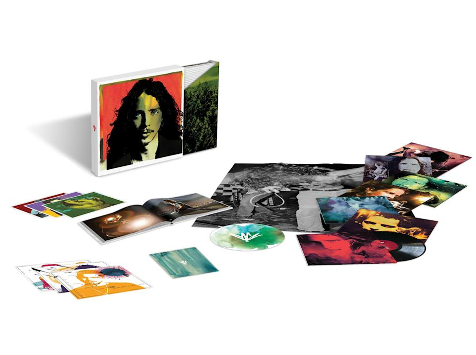 <p>The first-ever boxed set of the iconic alt-rock icon covers his entire career — Soundgarden, Temple of the Dog, Audioslave and solo — across 88 tracks (11 previously unreleased) on four discs. Also included is a hardcover photo book and liner notes by Soundgarden's Kim Thayil and Matt Cameron, Audioslave/Rage Against the Machine's Tom Morello, Pearl Jam's Mike McCready and producer Brendan O'Brien. </p>