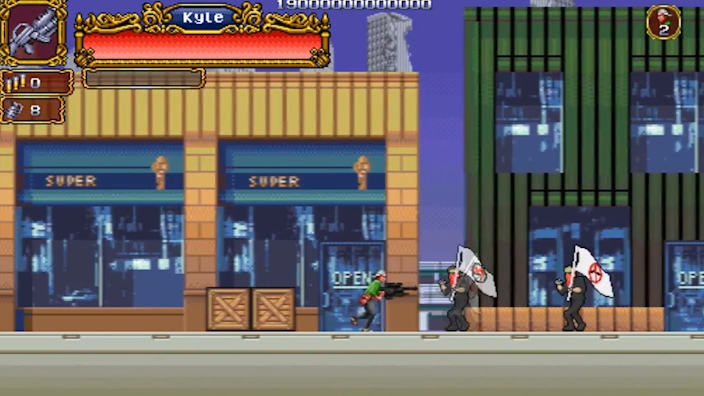Screengrab from YouTube video depicting Rittenhouse as a computer game character