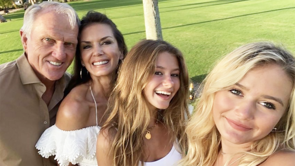 Golfing legend Greg Norman has made more than $120 million after selling to luxury properties in preparation to return to Australia. Picture: Instagram