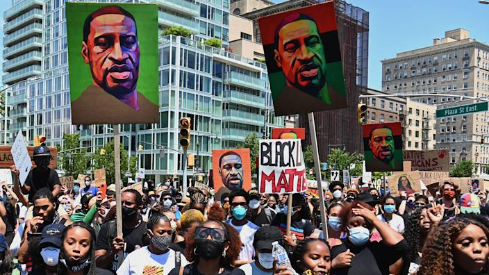 A rally for Black lives