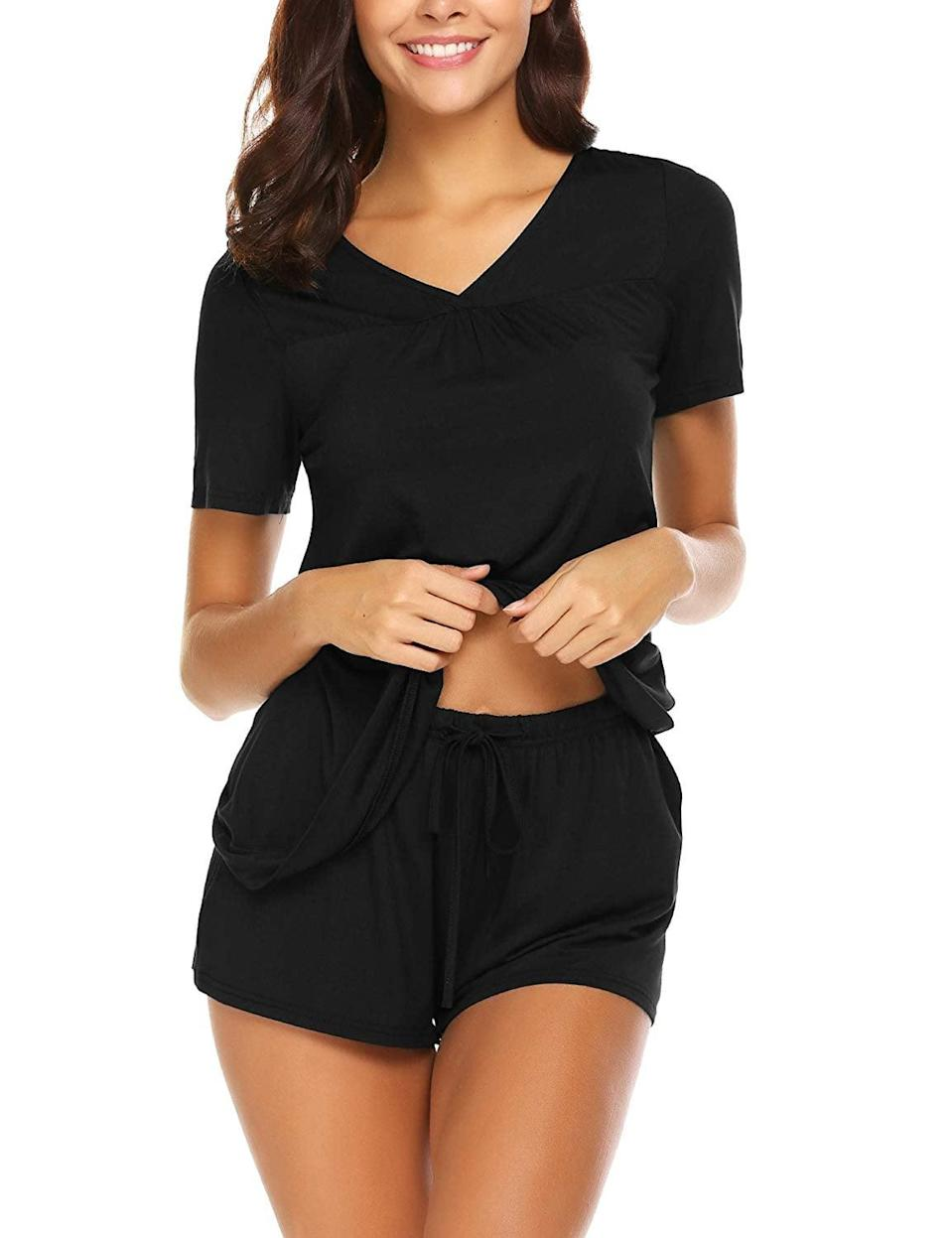 <p>You can't go wrong with this <span>Avidlove Shorts Pajama Set</span> ($25).</p>