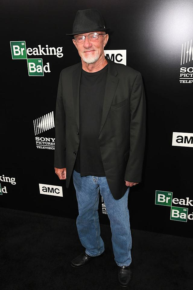 "Jonathan Banks arrives at AMC's ""Breaking Bad"" special premiere event held at Sony Pictures Studios on July 24, 2013 in Culver City, California."