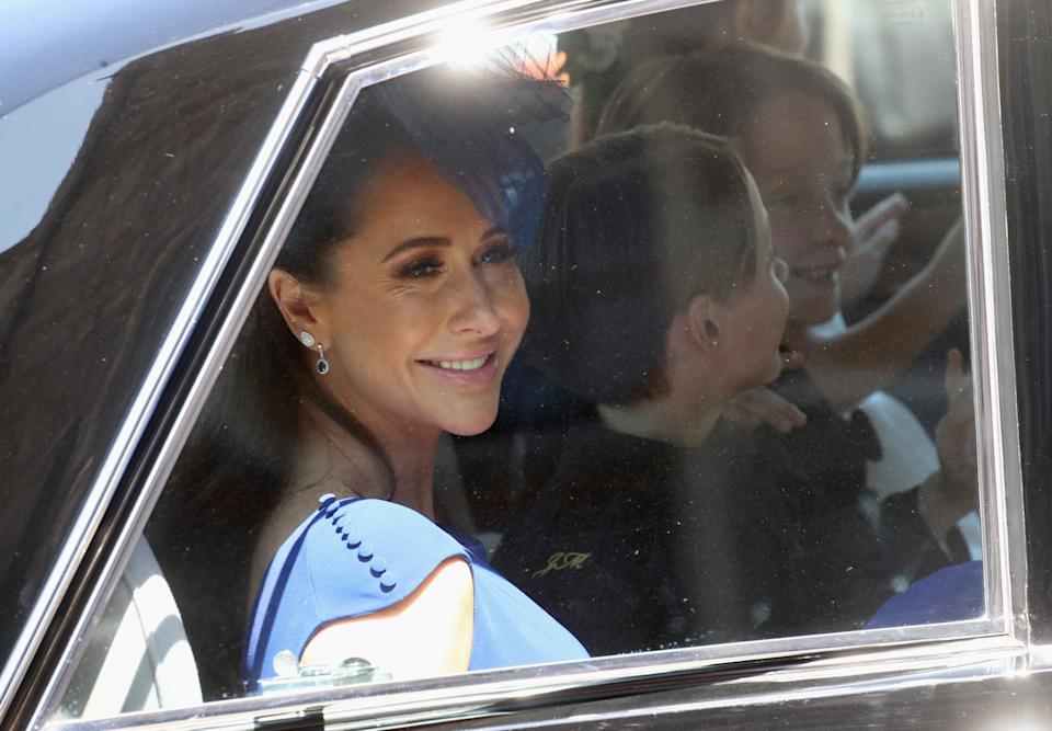 Meghan Markle's friend Jessica Mulroney arrives for the Harry and Meghan's wedding