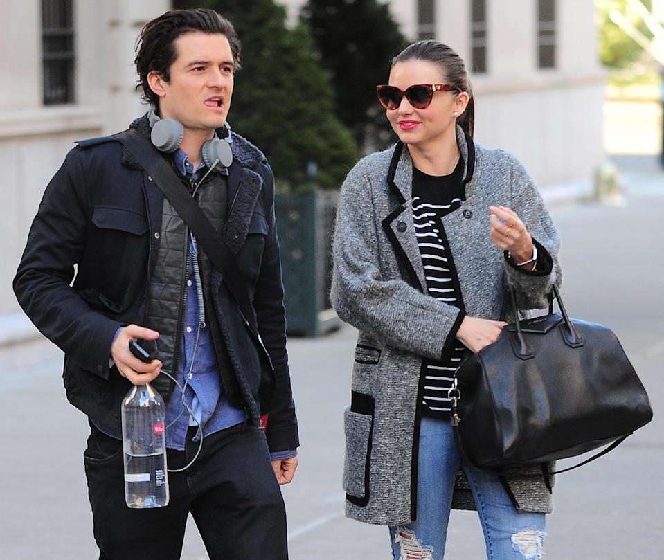 """<p>Miranda Kerr and Orlando Bloom may have split in 2013, but the pair are still chums. Casting their differences aside, the pair now raise son Flynn together and in the five years since their split have proved they still have each other's backs. """"Happy Birthday to an amazing mother, co-parent and friend,"""" Orlando wrote on Instagram on Miranda's birthday. <em>[Photo: Getty]</em> </p>"""