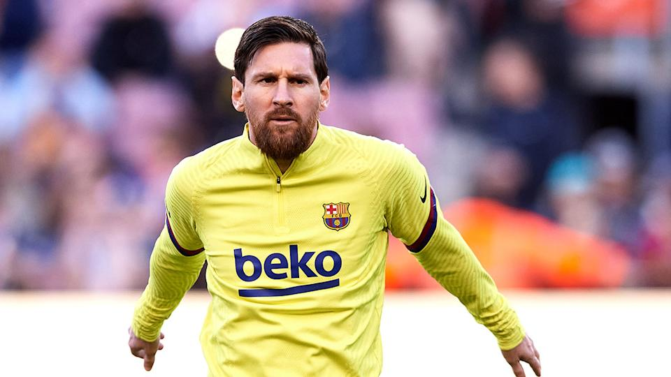 Pictured here, Lionel Messi playing for Barcelona in the 2019/20 season.