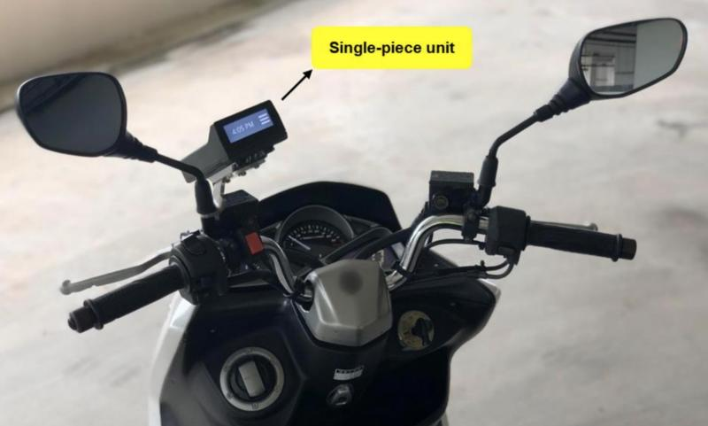 The on-board unity for Singapore's next-generation ERP system will feature a single-piece design for mounting on a motorcycle. (PHOTO: Land Transport Authority)