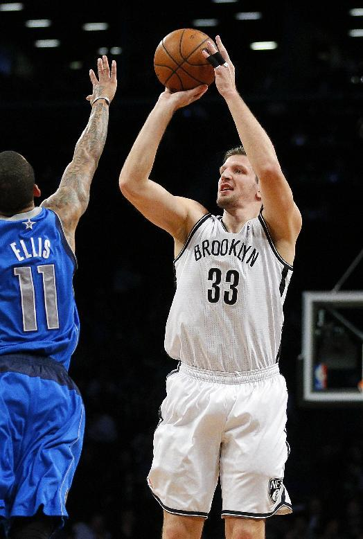 Teletovic scores 34 and Nets beat Mavs 107-106