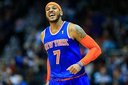Carmelo Anthony got paid and slimmed down in anticipation of another heavy workload this season.(Daniel Shirey-USA TODAY Sports)