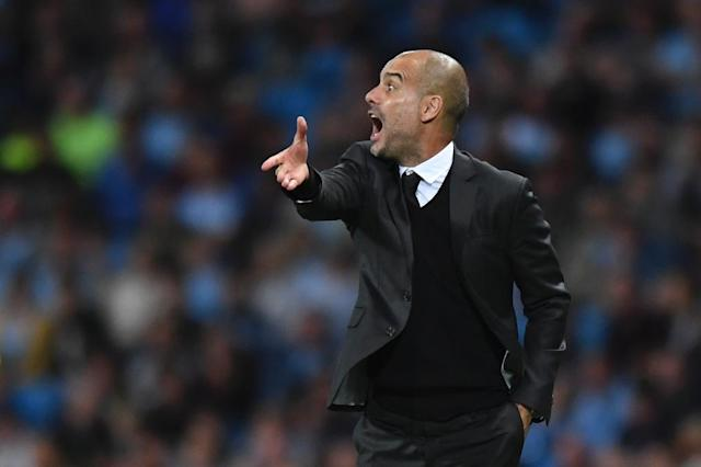 "Manchester City's Spanish manager Pep Guardiola, pictured on August 24, 2016, said that if Hart stays with the club ""the best solution is for everybody to be involved in our idea"" (AFP Photo/Anthony Devlin)"