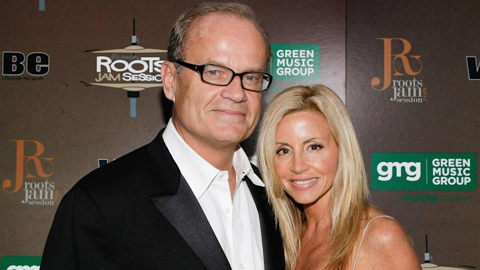 WEST HOLLYWOOD, CA - JANUARY 30:  Kelsey Grammer (L) and Camille Donatacci (R) attend the 6th Annual Roots Jam Session at Key Club on January 30, 2010 in West Hollywood, California.