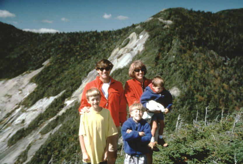 Alex Lowe, Jennifer Lowe and sons Max, Sam and Isaac in a family photo taken the year before Alex''s death - Credit: National Geographic/Max Lowe