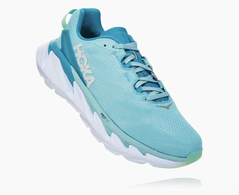 """<p><strong>Hoka One One</strong></p><p>hokaoneone.com</p><p><strong>$160.00</strong></p><p><a href=""""https://go.redirectingat.com?id=74968X1596630&url=https%3A%2F%2Fwww.hokaoneone.com%2Fwomens-road%2Felevon-2%2F1106478.html&sref=https%3A%2F%2Fwww.harpersbazaar.com%2Ffashion%2Ftrends%2Fg33234271%2Fcute-running-shoes-for-women%2F"""" rel=""""nofollow noopener"""" target=""""_blank"""" data-ylk=""""slk:Shop Now"""" class=""""link rapid-noclick-resp"""">Shop Now</a></p><p>Make waves on your next run with these stylish sneaks. </p>"""